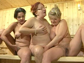 Three Mature Chicks In The Sauna