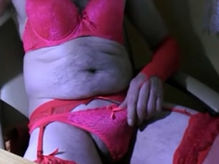 Zolina Masturbation Sexy Red Lingerie