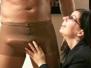 Humiliated And Made To Cum In Is Own Nylon