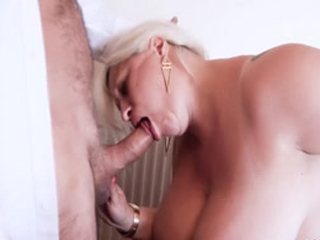 Busty Mature Providing Nasty Blowjob