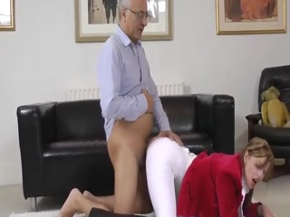 Old Daddy Fucks Step Daughter