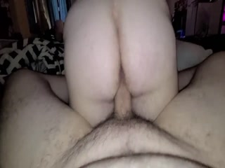 Dirty Babe Rides My Cock Until I Cum Inside Her Hairy Pussy