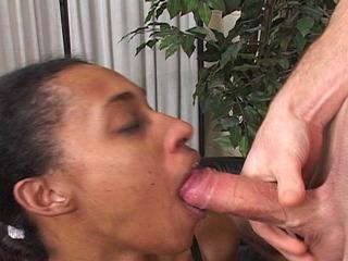 Shauna getting her throat pumped