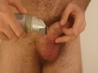 Shaving Penis And Balls