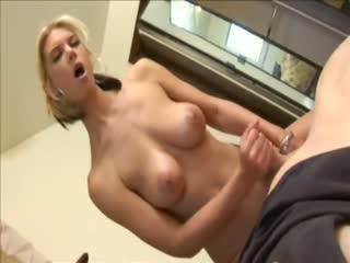 Beautiful Amateur Chick Jerking A Stiff Dick