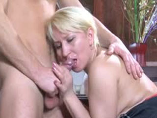 Heated Mature Chick Spying Upon A Guy Preparing His Dick For Wild Scoring