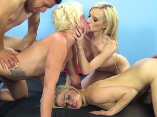 Stiff Poles For Three Stunning Blondes