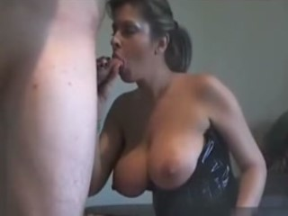 Classy MILF In Latex Gets Creampied
