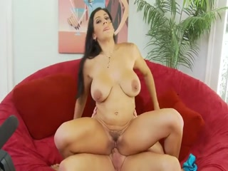 Cute Latina Chick Gets Cum On Her Hairy Pussy