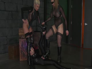 Extremely Sexy Ballbusting By Space Mistresses