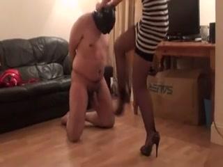 sexy home ballbusting