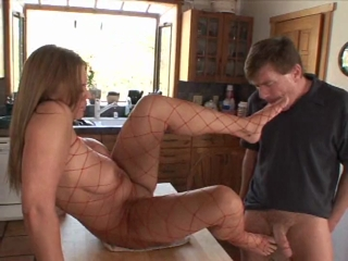 Stunning Girl Gets Her Feet And Ass Licked By Older Guy