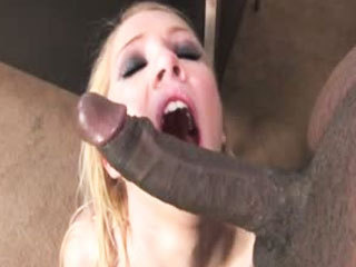Nicki Blue pleasing a monster black dicks