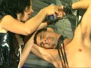 Dominatrix Babe Punishes Her Slave
