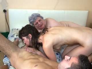 Hot Couple Having Threesome With Fat Granny