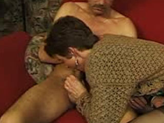 German Mature Sucks A Cock
