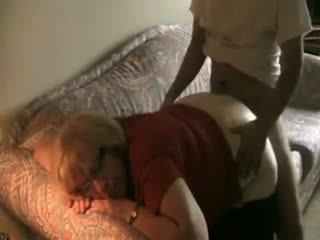 Chubby Blonde Granny Takes A Hard Young Dick