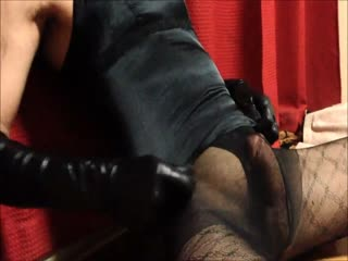 Latex Slave Euphoria In Pantyhose Masturbation