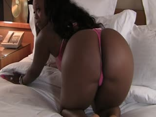Big Booty Ebony Jayden Star In Pink Thong