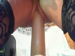 Sissy Frogghi Dildo In Ass