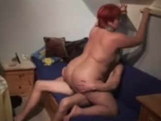 Redhead Fatty Fucked On The Couch