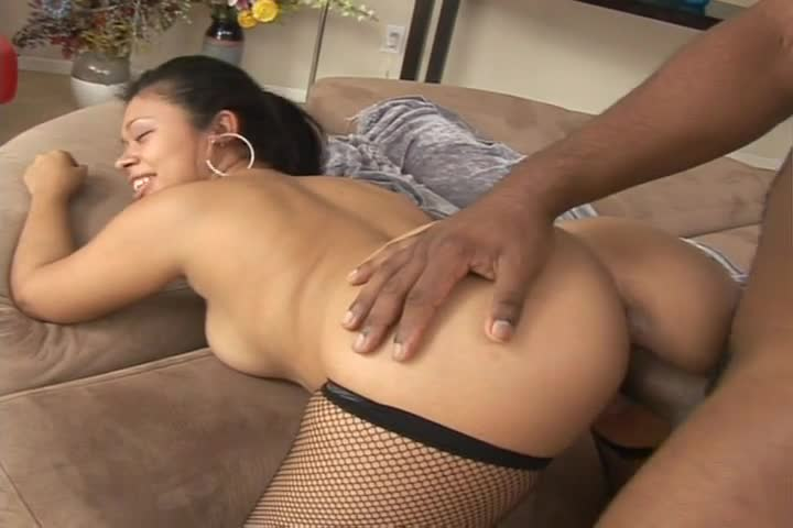girl with fat ass gets fucked - Black Babe In Fishnets Gets Her Fat Ass Fucked Hard