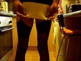Mini Skirt & Stockings