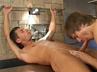 Young gay rides a hard cock