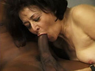 Black Cock Fucks Granny's Wet Cunt