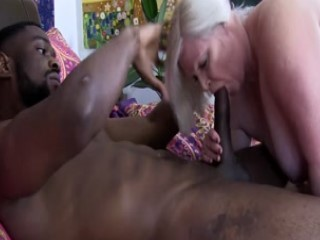 Blonde Mature Blows A BBC