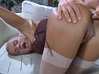 Luscious Busty Milf Gags On A Cock Before Readily Taking It Up The Brown