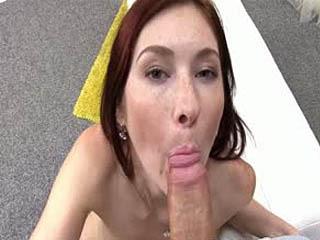 Redhead Kattie Sucks And Fucks Cock Like A Pro
