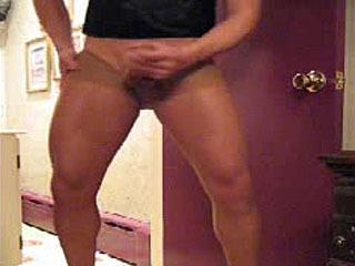 Sun Beige Pantyhose Stroking