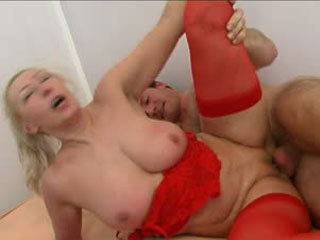 A Hard Cock For The Busty Mature