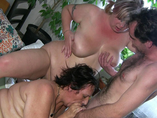 Mature Nurse And Her Boyfriend Like Having A Threesome