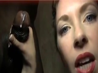 Sensuous Mom Jerks Off A Black Cock In The Shower