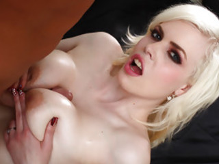 Smoking Hot Blond Kristy Snow Loves Jizz On Her Big Tits