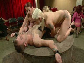 Live And Public Slave Humiliation, Degradation, Prostate Milking With Horny Sadistic