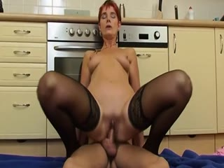Sexy Mature Gets Fucked In The Kitchen
