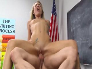 Horny Teacher Fucks Student In The Classroom