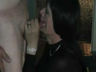 Tranny Blowing Cock