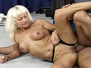 Mom Fucks The Gym Couch