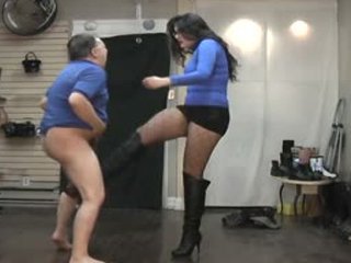Ballbusting In The Store