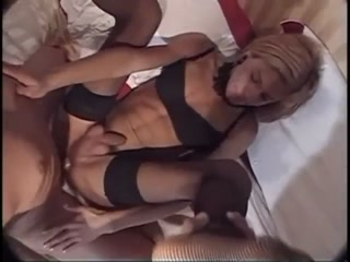 Tranny Slut In Fishnet Getting Rammed In The Butt