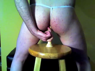 Sissy Plays With A Dildo
