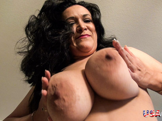 Sexy Chubby Wife Is Playing With Her Huge Boobs