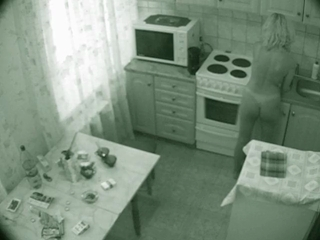 Naked Bridgitt Making A Breakfast