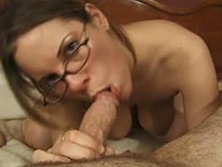 Cute Tanya masturbating before sucking some cock