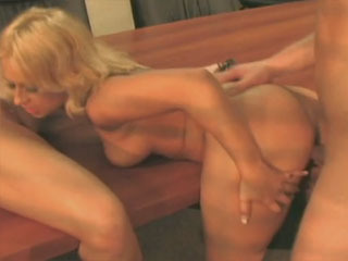 Two Blondes Sharing A Dick