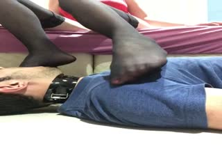 Amateur Foot Gagging And Rubbing